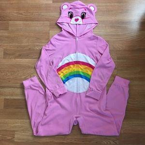 Care Bears Cheer Bear Onesie Costume Hooded Pajama